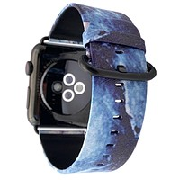40mm & 38mm Vegan Leather Apple Watch Band - Geode