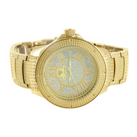 Mens Genuine Diamond Iced Out Ice Mania Analog Watch