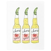 Beer Cheers Greeting Card