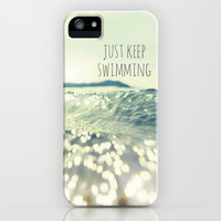 Just Keep Swimming... iPhone & iPod Case by Kate