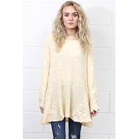 Snow Angel Crochet Sweater Tunic {Natural}