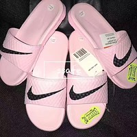 Nike:Fashion casual slippers Pink  woman