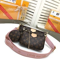 LV Louis Vuitton WOMEN'S MONOGRAM CANVAS MULTI POCHETTE ACCESSOIRES INCLINED SHOULDER BAG