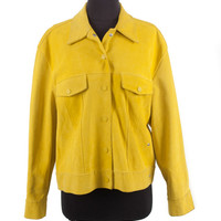 Yellow Suede Jacket
