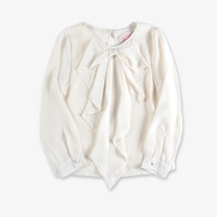 Appaman Girls Cascade Bow Blouse - Ivory - FINAL SALE