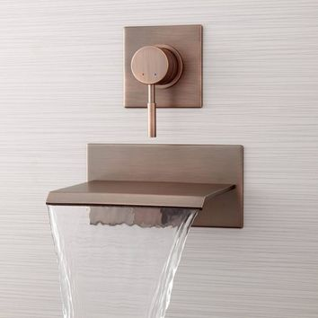 WALL-MOUNT WATERFALL TUB FAUCET