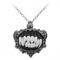 Gothic Necromancer black monster teeth necklace by Restyle