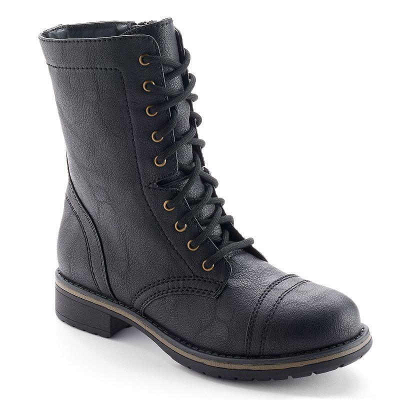 SO Womenu0026#39;s Mid-Calf Lace-Up Boots From Kohlu0026#39;s | Things I Want As