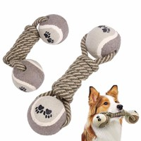 Dog's Chew Toys Dumbbell Rope Tennis Pet Chew Toy Puppy Dog Clean Teeth Training Tool For Dogs Drop Shipping