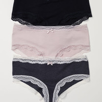 3-pack Cotton Hipster Briefs - from H&M