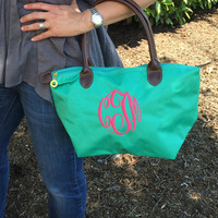 Monogram TURQUOISE Champ Purse Font Shown MASTER CIRCLE in bright pink