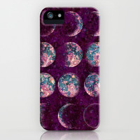 Celestial Moons iPhone & iPod Case by Bohemian Gypsy Jane