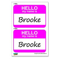 Brooke Hello My Name Is - Sheet of 2 Stickers