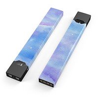 Skin Decal Kit for the Pax JUUL - Blue 0021 Absorbed Watercolor Texture