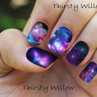 Galaxy Full Wrap Nail Decals