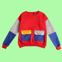 GO BACK TO SCHOOL PROMOTION- COLOR BLOCK PULLOVER