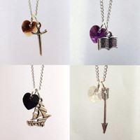 Once Upon A Time Character Necklaces: Charming, Hook, Henry, Snow