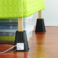 Bed Risers with USB Ports & Outlets
