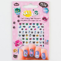 Cat Crazy Nail Stickers Multi One Size For Women 23918495701