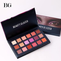 BEAUTY GLAZED Makeup Palette Eyes Shadow Easy To Wear Eyeshadow Natural Matte Shimmer Long-lasting Eye Shadow 18 Colors