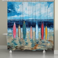 Surfboards Shower Curtain