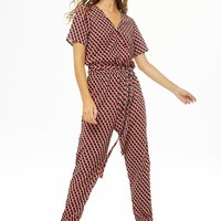 Noisy May Geo Print Jumpsuit