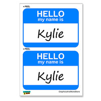 Kylie Hello My Name Is - Sheet of 2 Stickers