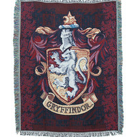 Harry Potter Gryffindor Crest Woven Tapestry Throw
