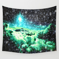galaxy clouds Wall Tapestry by WhimsyRomance&Fun