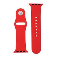 Cherry Red Silicone Sports Watch Band 38mm 42mm for Apple Watch 1, 2, 3, 4