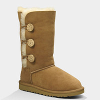 Ugg Bailey Button Triplet Girls Boots Chestnut  In Sizes
