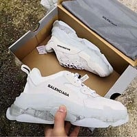 Wearwinds Balenciaga new men and women retro transparent platform old shoes