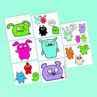 "Amscan 209947 8.25"" UGLYDOLL Tattoo Sheet with Material Paper"