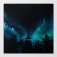 Stary Night  Canvas Print by North Star Artwork