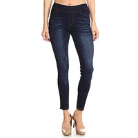 The Scratch Kat Fever Denim Jegging - Dark Denim