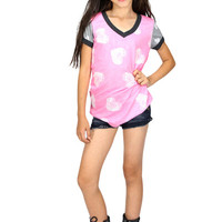 Dirtee Hollywood Chalk Hearts Tee | Mod Angel
