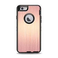 The Rose Gold Brushed Surface Apple iPhone 6 Otterbox Defender Case Skin Set