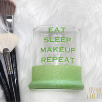 Eat Sleep Makeup Repeat // Glitter Dipped Makeup Brush Holder