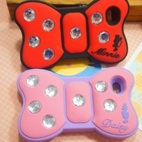 Pink Super Cute Minnie Bow Pattern Case for iPhone 4/4s