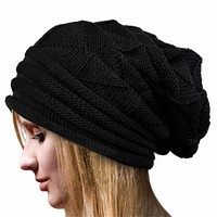 Knitted Wool Hat For Women Winter Crochet Hat Wool Knit Beanie Warm Caps Good Quality Hats For Autumn Winter Beanies