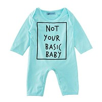 2017 Newborn Baby Clothes Romper Autumn Brand Letter Print Girl Boy Baby Newborn Jumpsuit Spring New Infant Baby Clothes Romper