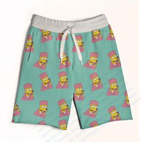 Real USA size Bart Cam'ron 3D Sublimation Print Custom made Fifth & Seventh Shorts with String
