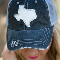 """Authentic """"Texas State"""" Graphic Hat   Belle Boutique"""