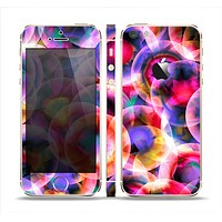 The Neon Glowing Vibrant Cells Skin Set for the Apple iPhone 5s