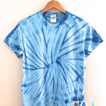 Vertical Striped Lapneck Tie-Dye Infant Shirt