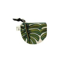 Richmond Half Moon Pouch in Monstera Linen Canvas