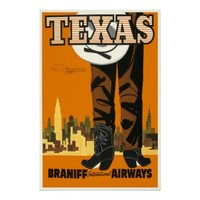 Vintage Texas Travel Poster