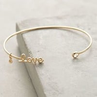 Love Cuff by Anthropologie in Gold Size: One Size Bracelets
