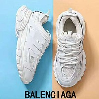 Bunchsun BALENCIAGA Trending Women Stylish Sport Running Jogging Shoes Sneakers White