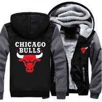 Chicago Bulls Thick Fleece Jacket 50% OFF! **FREE SHIPPING!**
